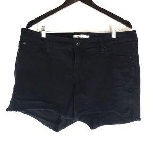 Torrid Black Jean Short Shorts
